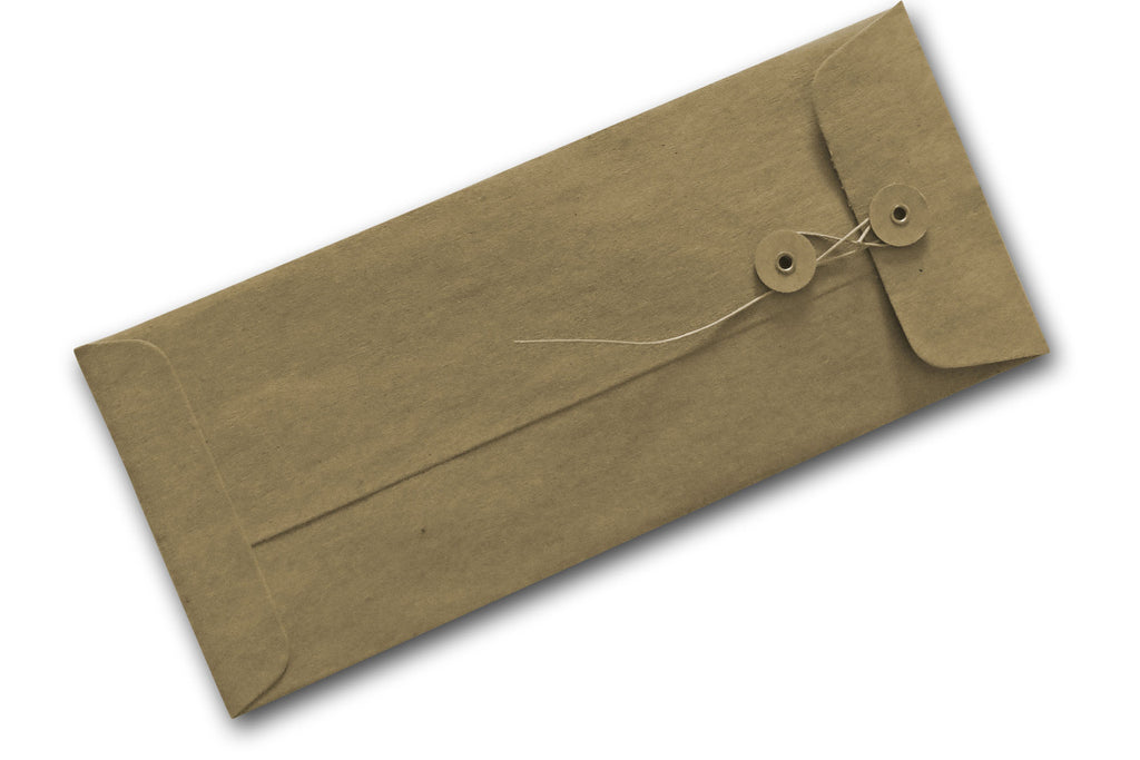brown paper envelopes with string