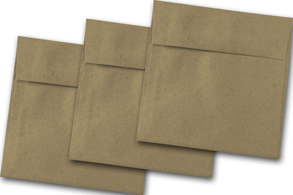 Brown Bag Kraft 6 inch square envelopes