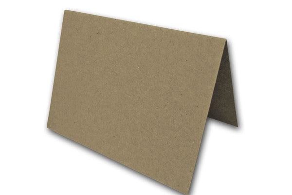 Blank Kraft A7 folded cards