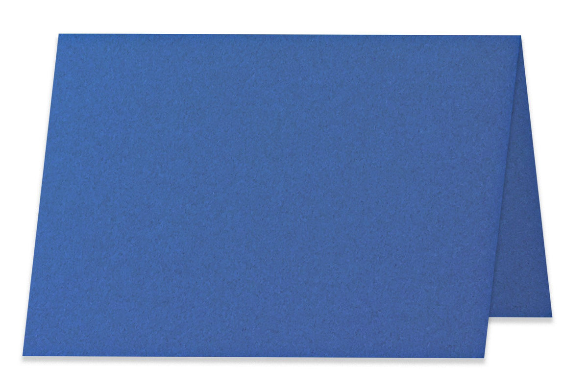 Basic Blue 5x7 Folded Discount Card Stock
