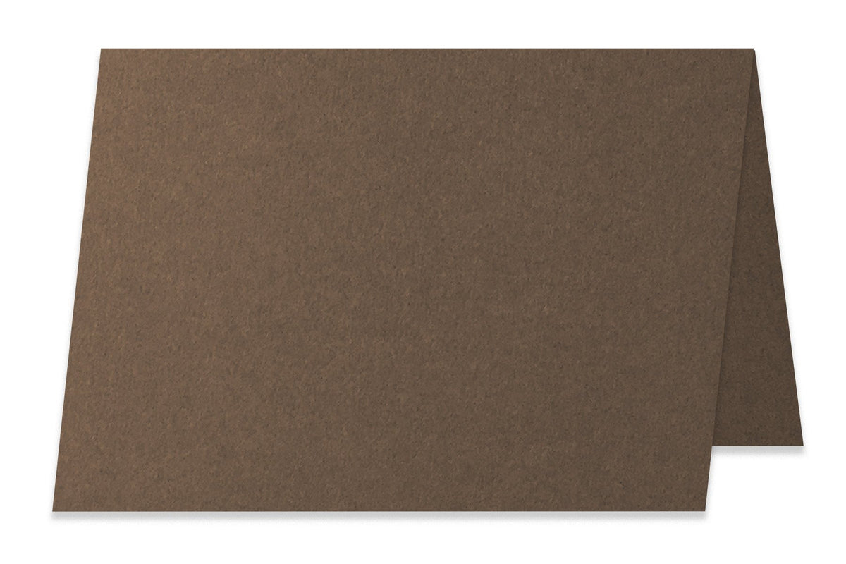 Basic Brown  5x7 Folded Discount Card Stock