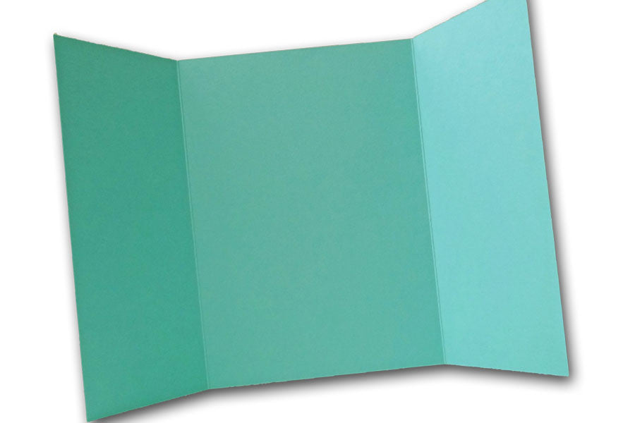 Aqua 5x7 Discount Card Stock DIY Gatefold Invitations