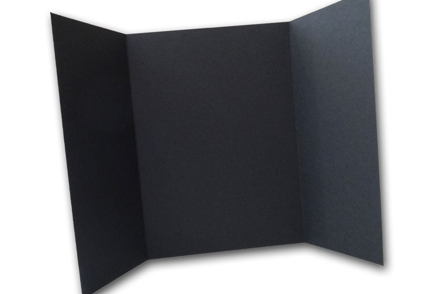 Black 5x7 Discount Card Stock DIY Gatefold Invitations