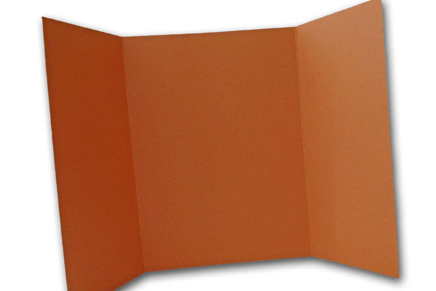 Dark Orange 5x7 Discount Card Stock DIY Gatefold Invitations