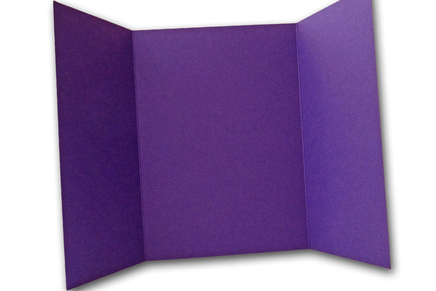 Dark Purple 5x7 Discount Card Stock DIY Gatefold Invitations