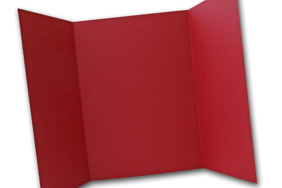 Dark Red  5x7 Discount Card Stock DIY Gatefold Invitations