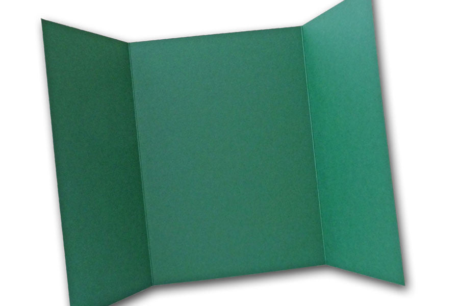 Green 5x7 Discount Card Stock DIY Gatefold Invitations