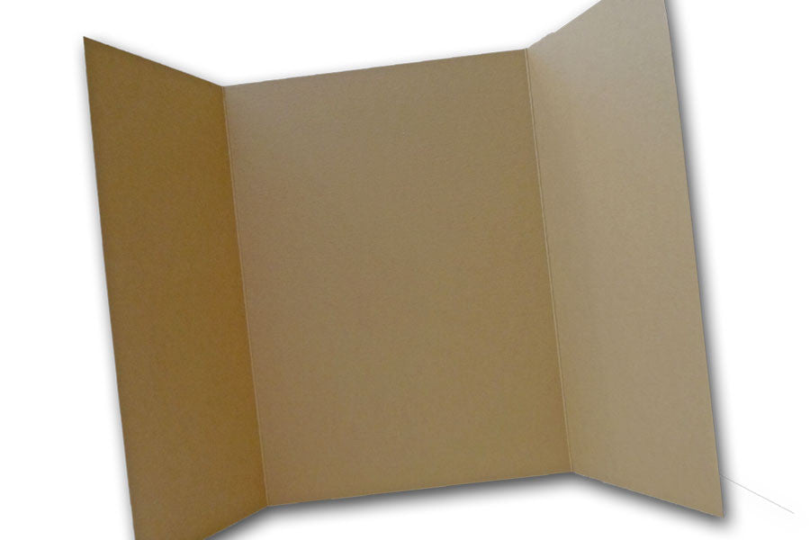 Light Brown 5x7 Discount Card Stock DIY Gatefold Invitations