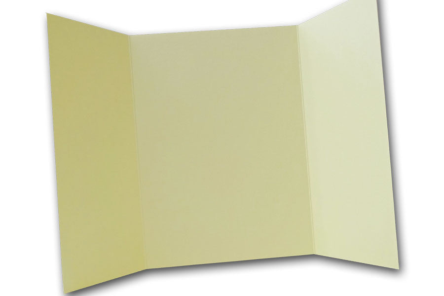 Light Yellow 5x7 Discount Card Stock DIY Gatefold Invitations