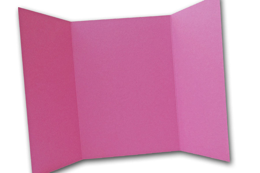Magenta 5x7 Discount Card Stock DIY Gatefold Invitations