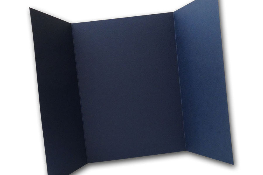 Navy 5x7 Discount Card Stock DIY Gatefold Invitations