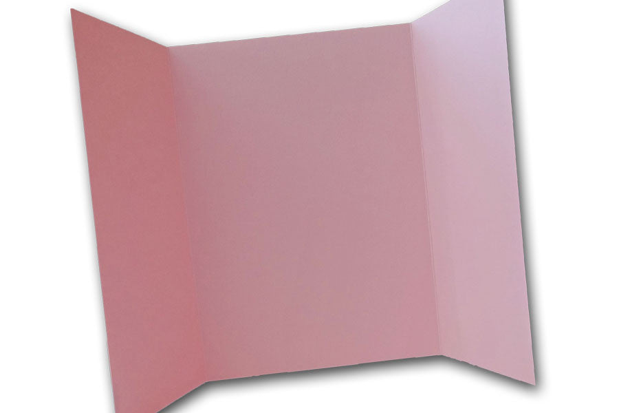 Pink 5x7 Discount Card Stock DIY Gatefold Invitations