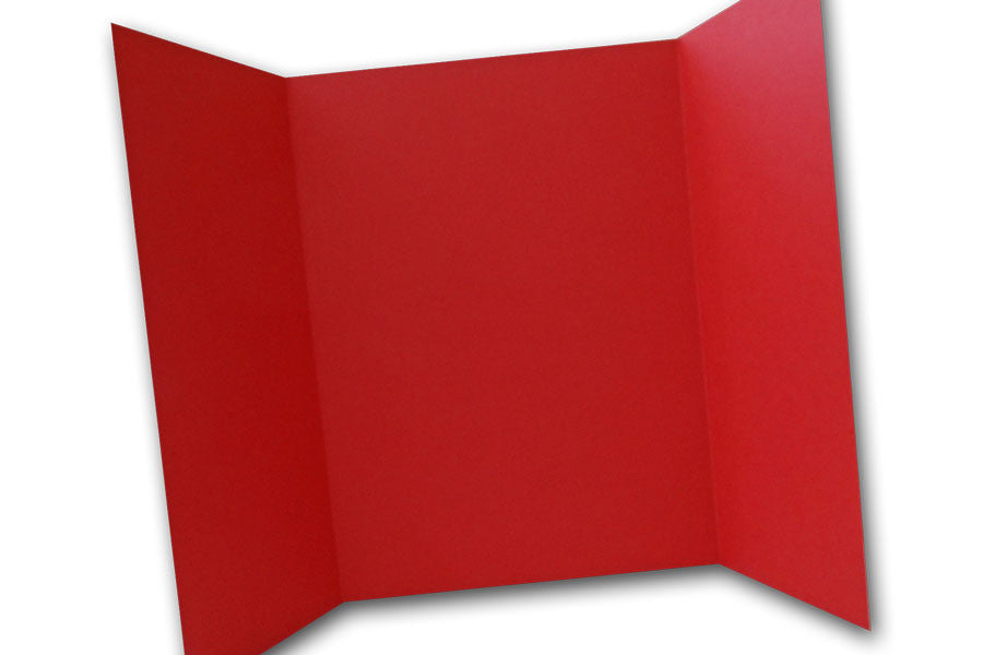 Red 5x7 Discount Card Stock DIY Gatefold Invitations