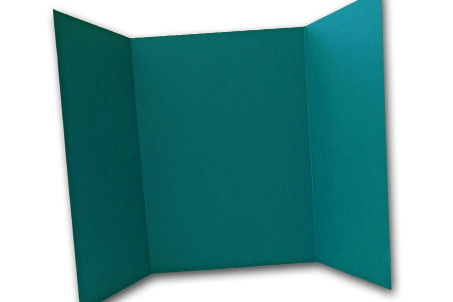 Teal 5x7 Discount Card Stock DIY Gatefold Invitations