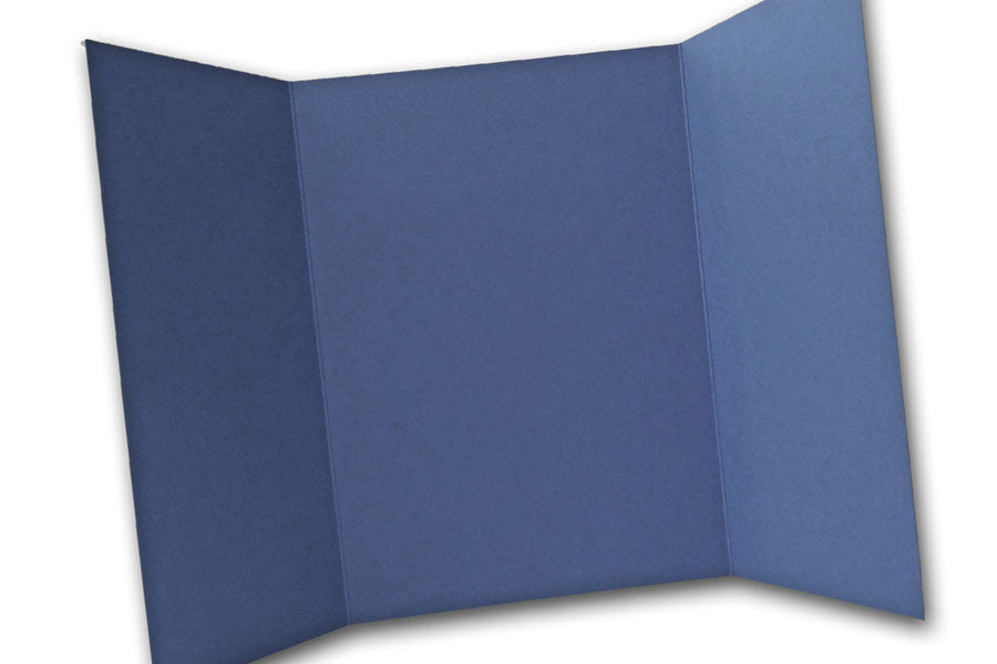 Blue 5x7 Discount Card Stock DIY Gatefold Invitations