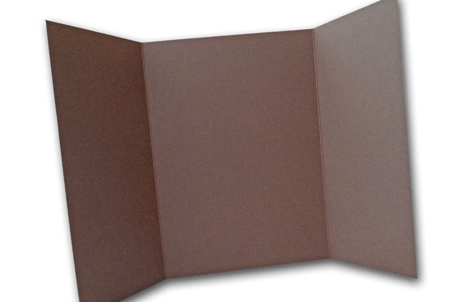 Brown 5x7 Discount Card Stock DIY Gatefold Invitations