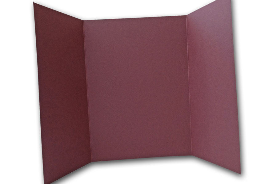 Burgundy 5x7 Discount Card Stock DIY Gatefold Invitations