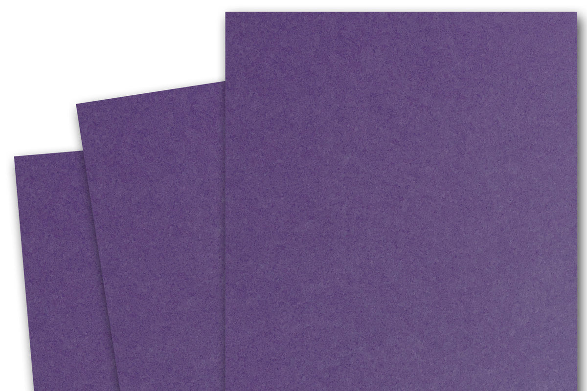 Purple 3x5 inch Discount Card Stock