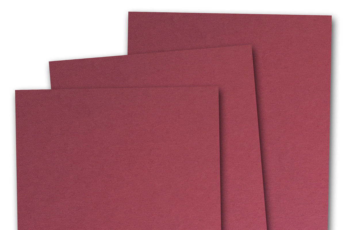 Dark Red 3x5 inch Discount Card Stock