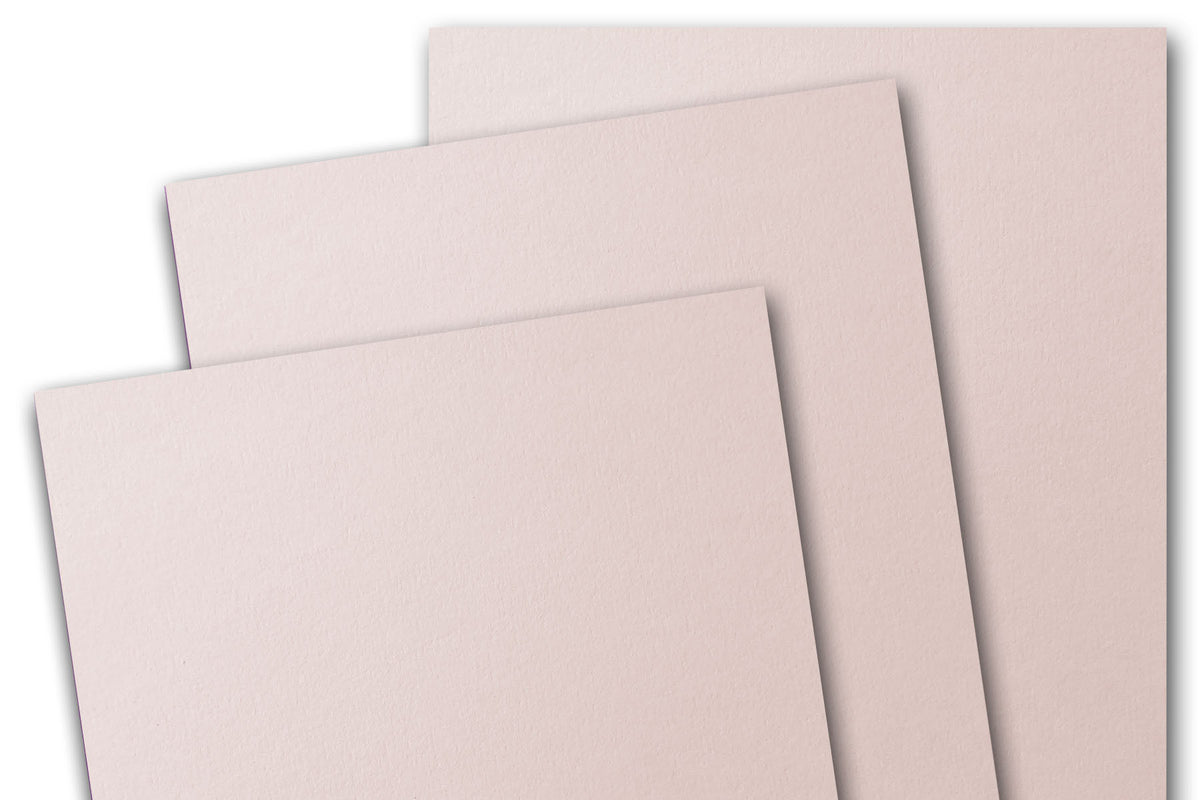 Soft Pink Blush 5x7 Discount Card Stock DIY Gatefold Invitations