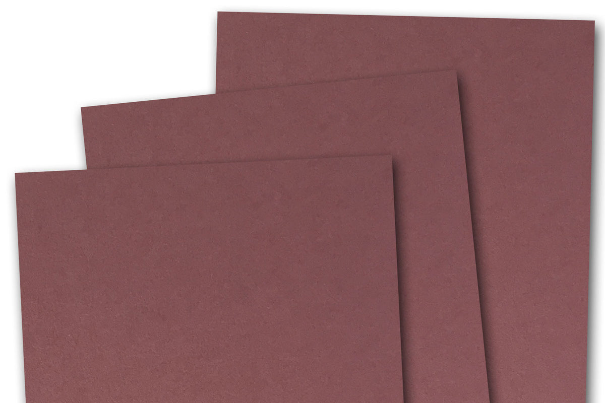 Burgundy 3x5 inch Discount Card Stock