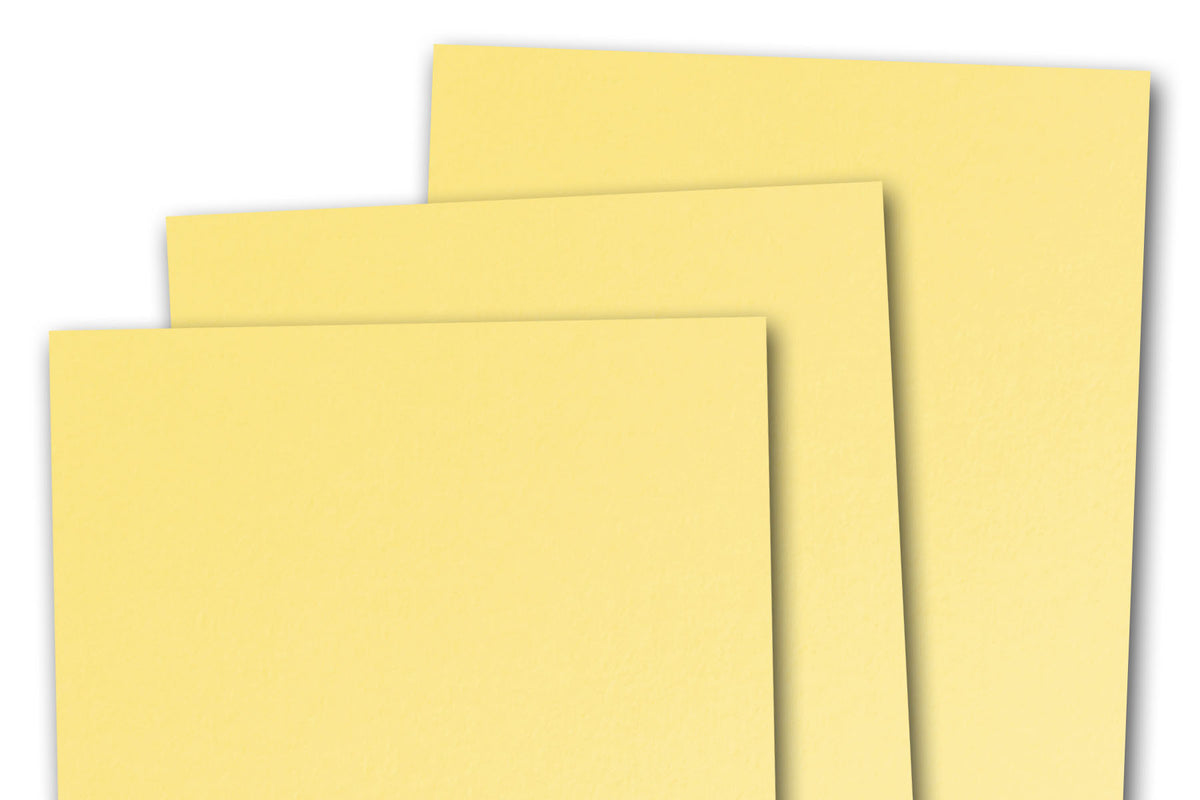 Light Yellow 3x5 inch Discount Card Stock