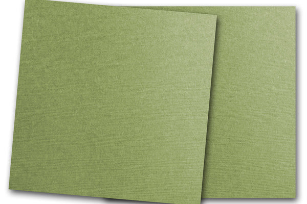 DCS Discount Card Stock: Linen Textured Bay Leaf Green
