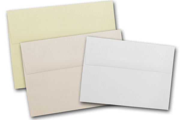 White and Ivory A2 envelopes