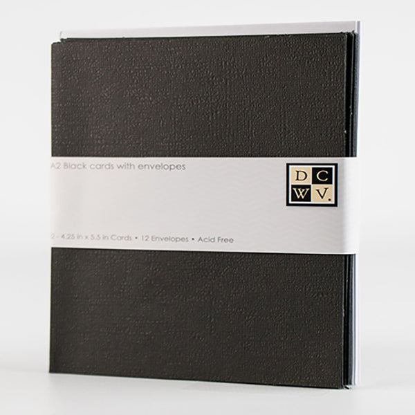 Black folded Discount Card Stock - A2 blank note cards