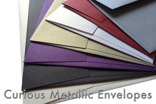 Metallic note card envelopes