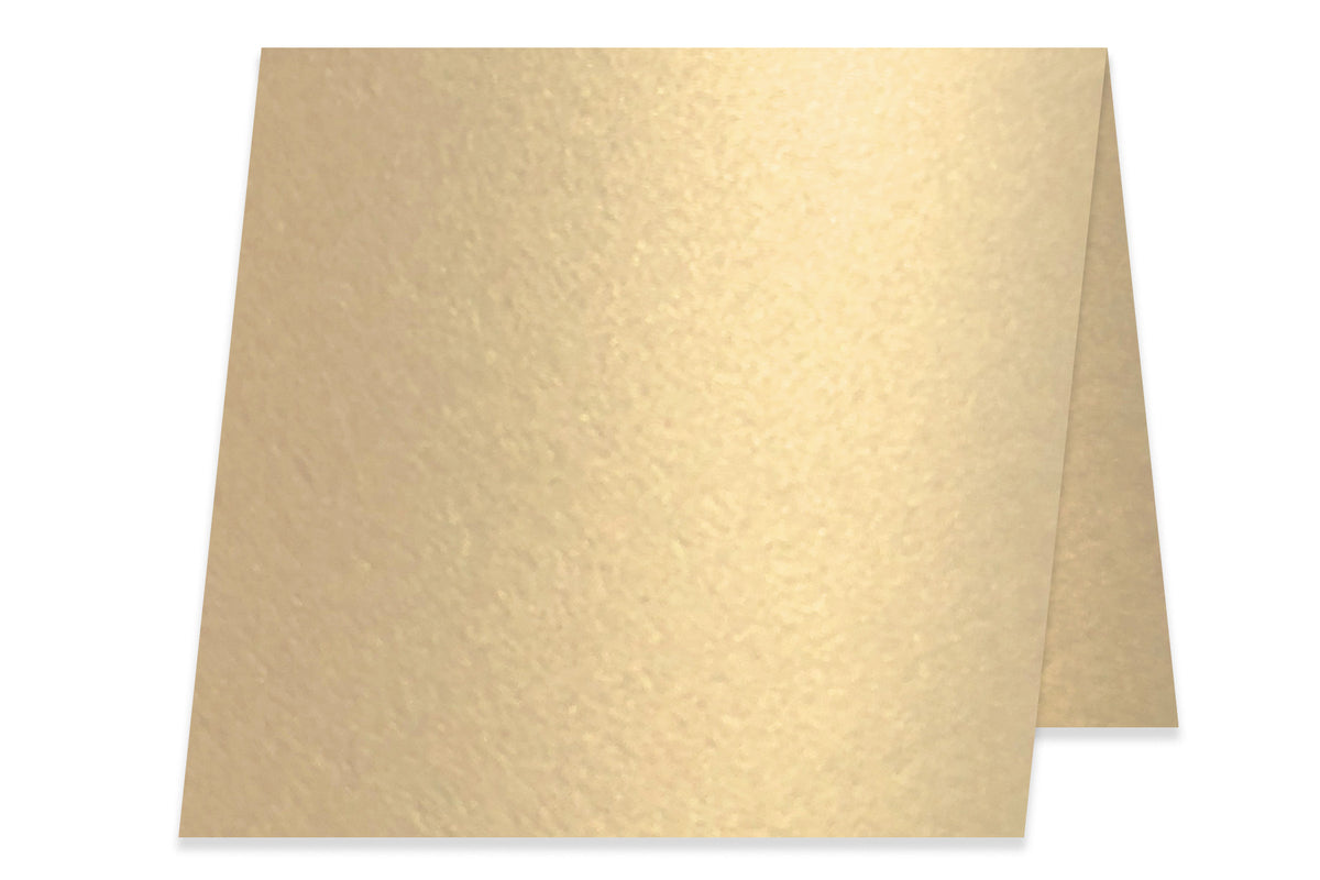 Blank Metallic 5x5 Folded Discount Card Stock - Champagne