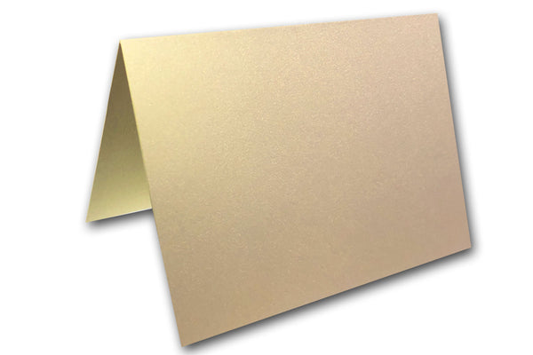 Blank Metallic Blank Place CardsDiscount Card Stock - Champagne