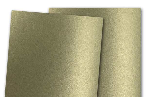 Curious Metallic Olive Green Card Stock