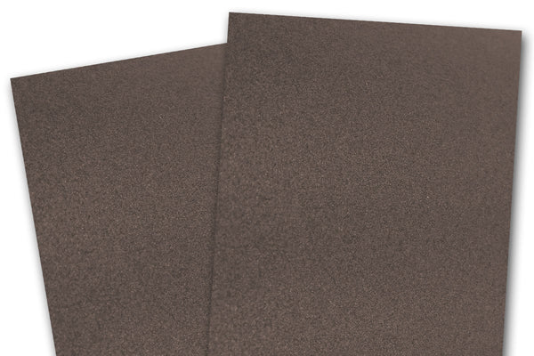 metallic brown card stock