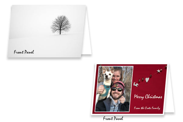 Upload and Print your own 5x7 Folded Christmas and Greeting Cards on Heavy Card Stock - 50 Pack