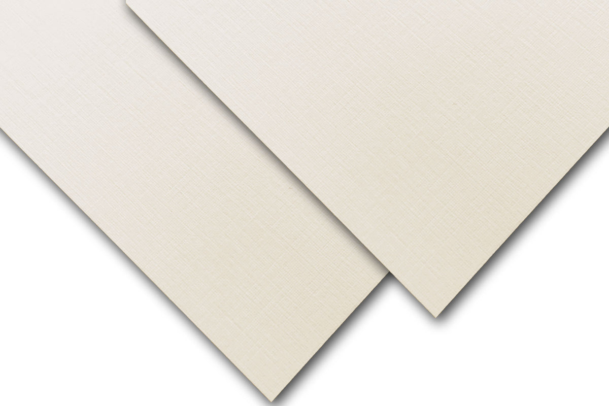 Classic Linen Natural White Ivory  Discount Paper