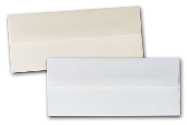 White and Ivory No 10 Square flap envelopes