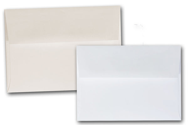 White and Ivory 5x7 Envelopes