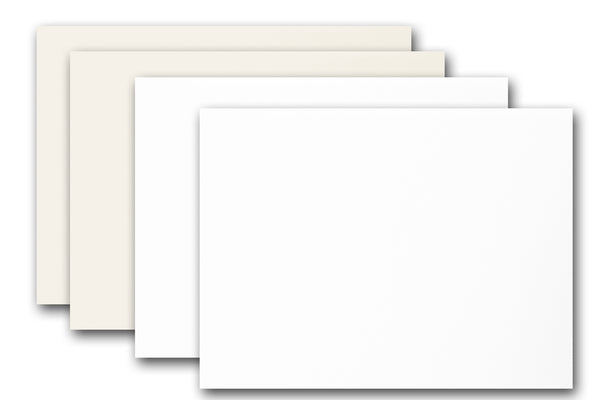 Discount  White and Natural A2 Card Stock