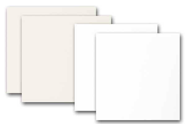 White and Ivory 5 inch square discount card stock