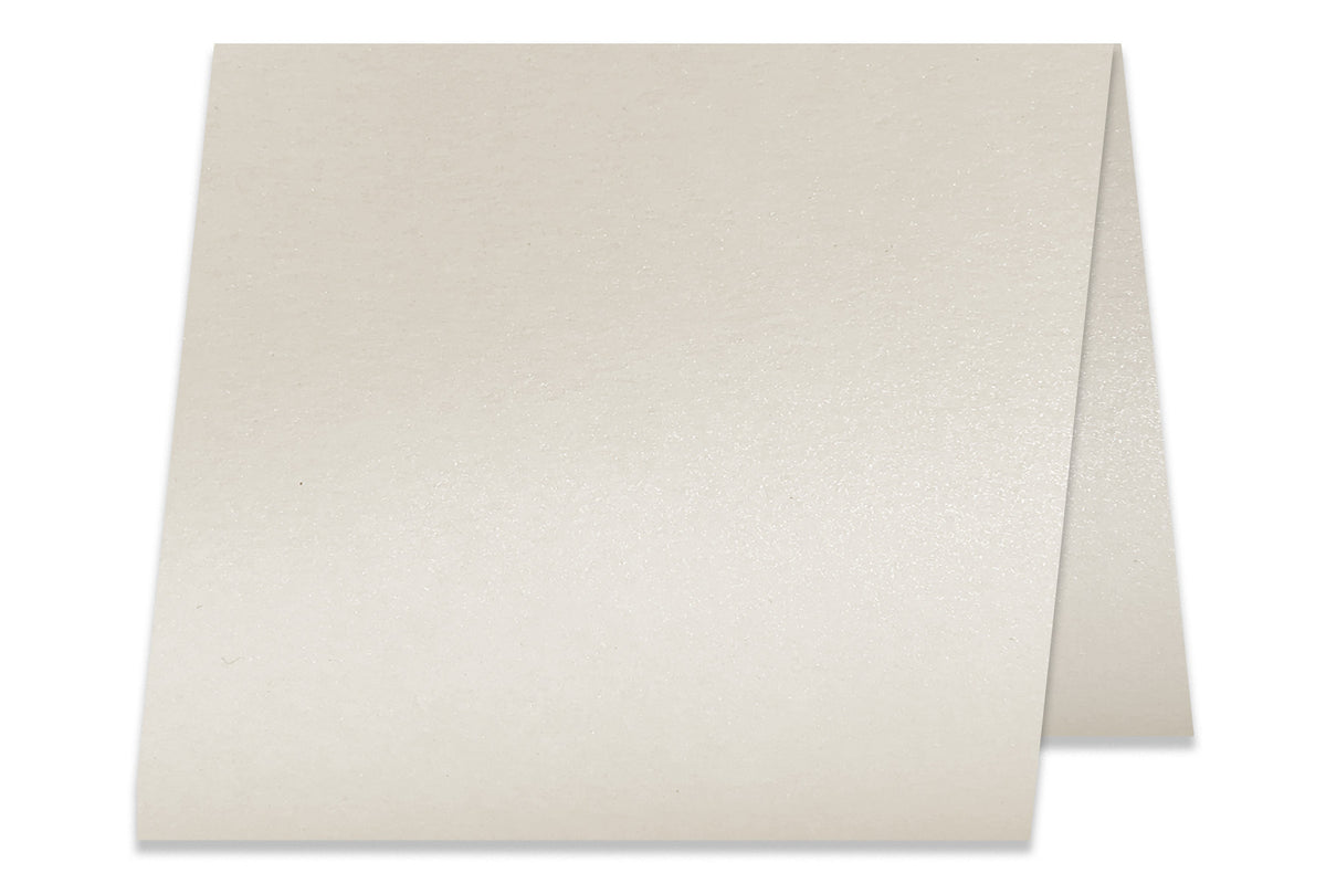 Blank Metallic 5x5 Folded Discount Card Stock - Cryogen White