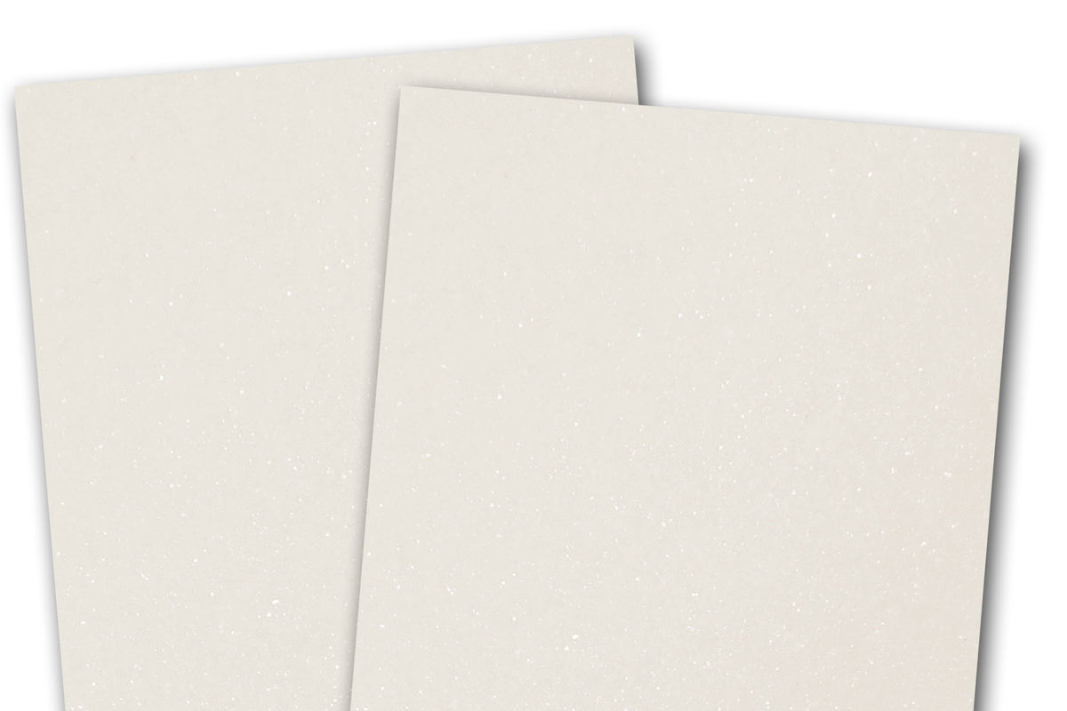 Blank Metallic A7 Discount Card Stock - White