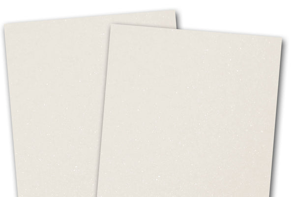 Metallic White 12x12 Discount Card Stock