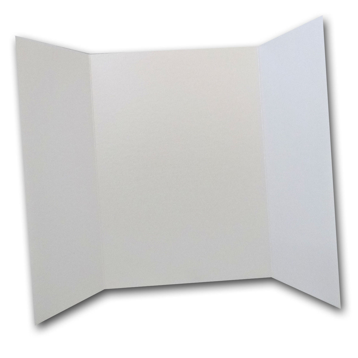 Shimmery White 5x7 Gatefold Discount Card Stock DIY Invitations
