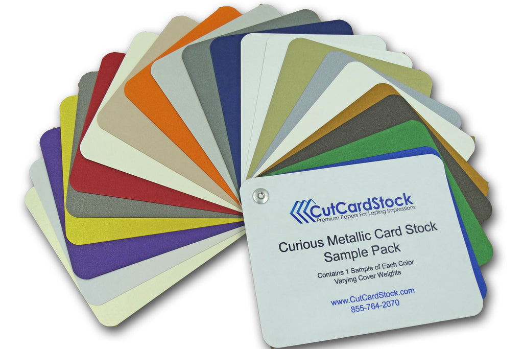 COMPLETE Curious Metallic Card Stock SAMPLE PACK 8.5 x 11