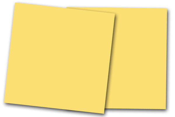 yellow 12x12 Discount Card Stock
