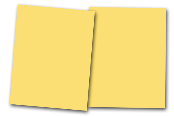 Butter Yellow Discount Card Stock
