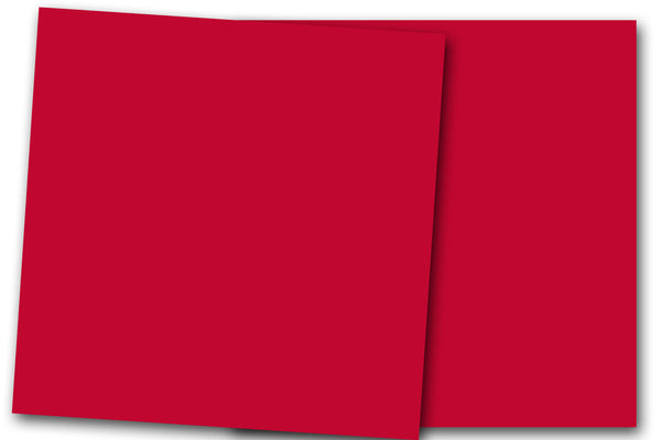 Red 12x12 Discount Card Stock