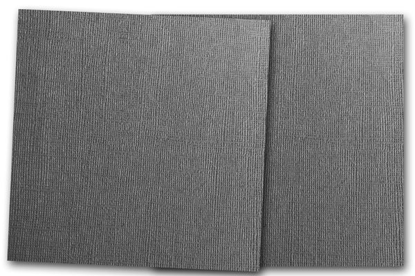 DCS Discount Card Stock: Canvas Textured Shadow Gray Card Stock