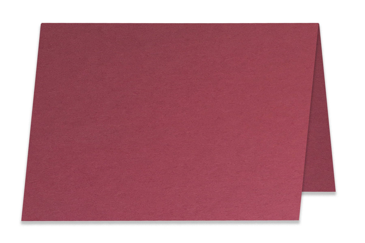Basic Dark Red 5x7 Folded Discount Card Stock